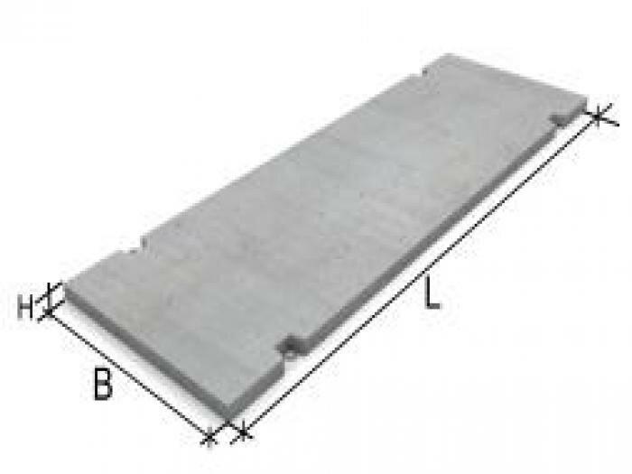 Плита дорожная 3000х1750х170 объем забор железобетонный секция